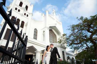 Carla and Justin just married at St. Paul's Church in Old Town Key West