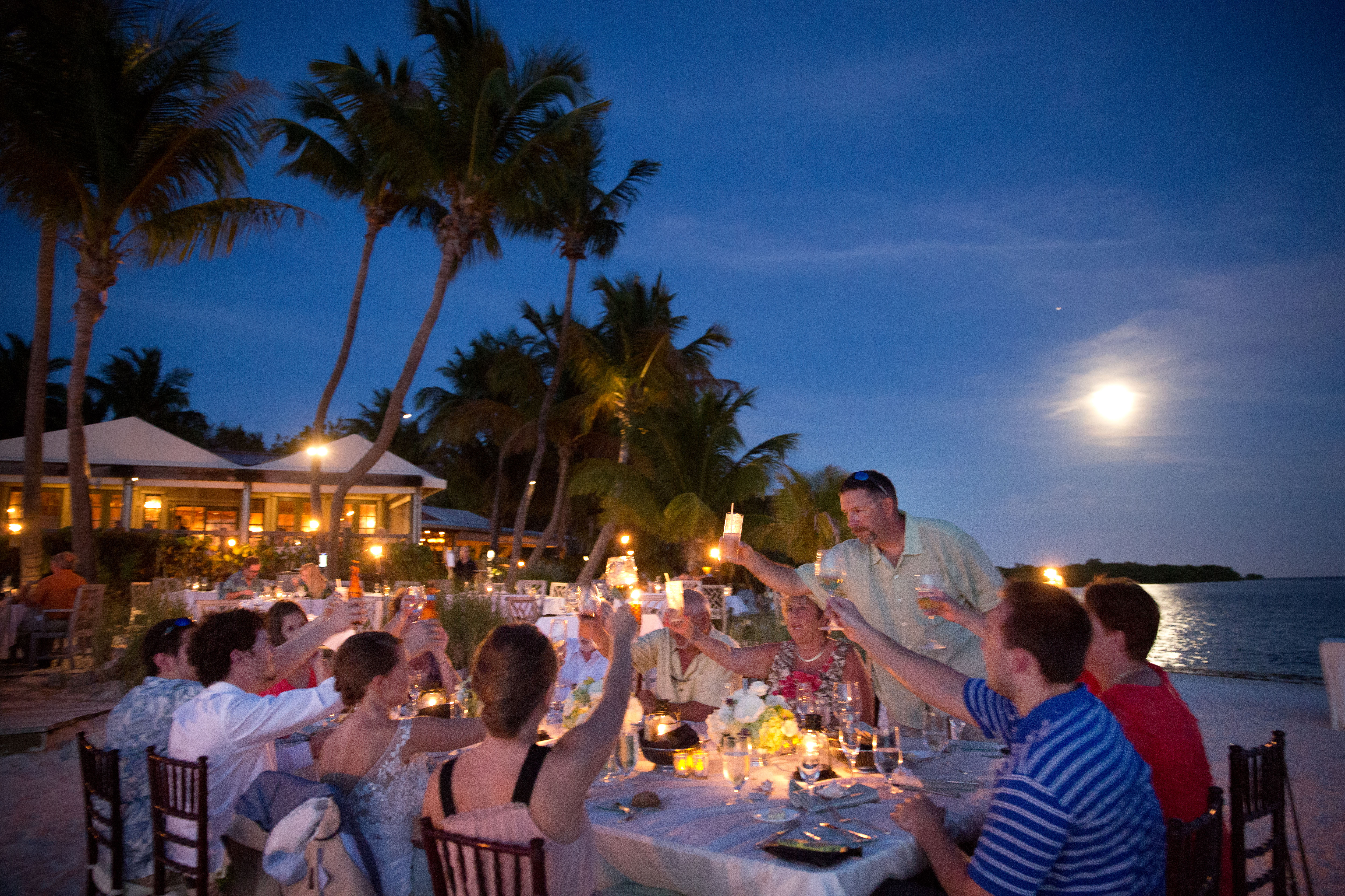 wedding reception at Little Palm Island