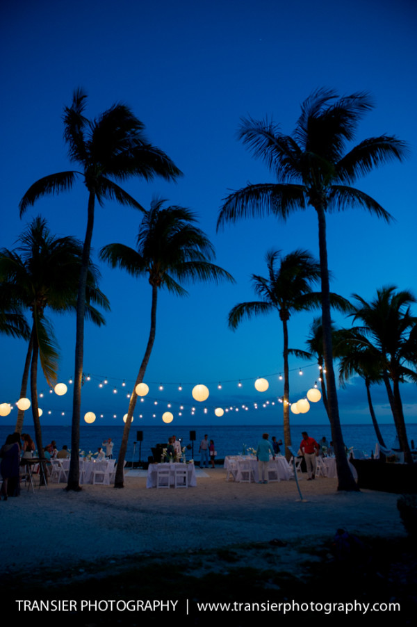 night time outdoor reception
