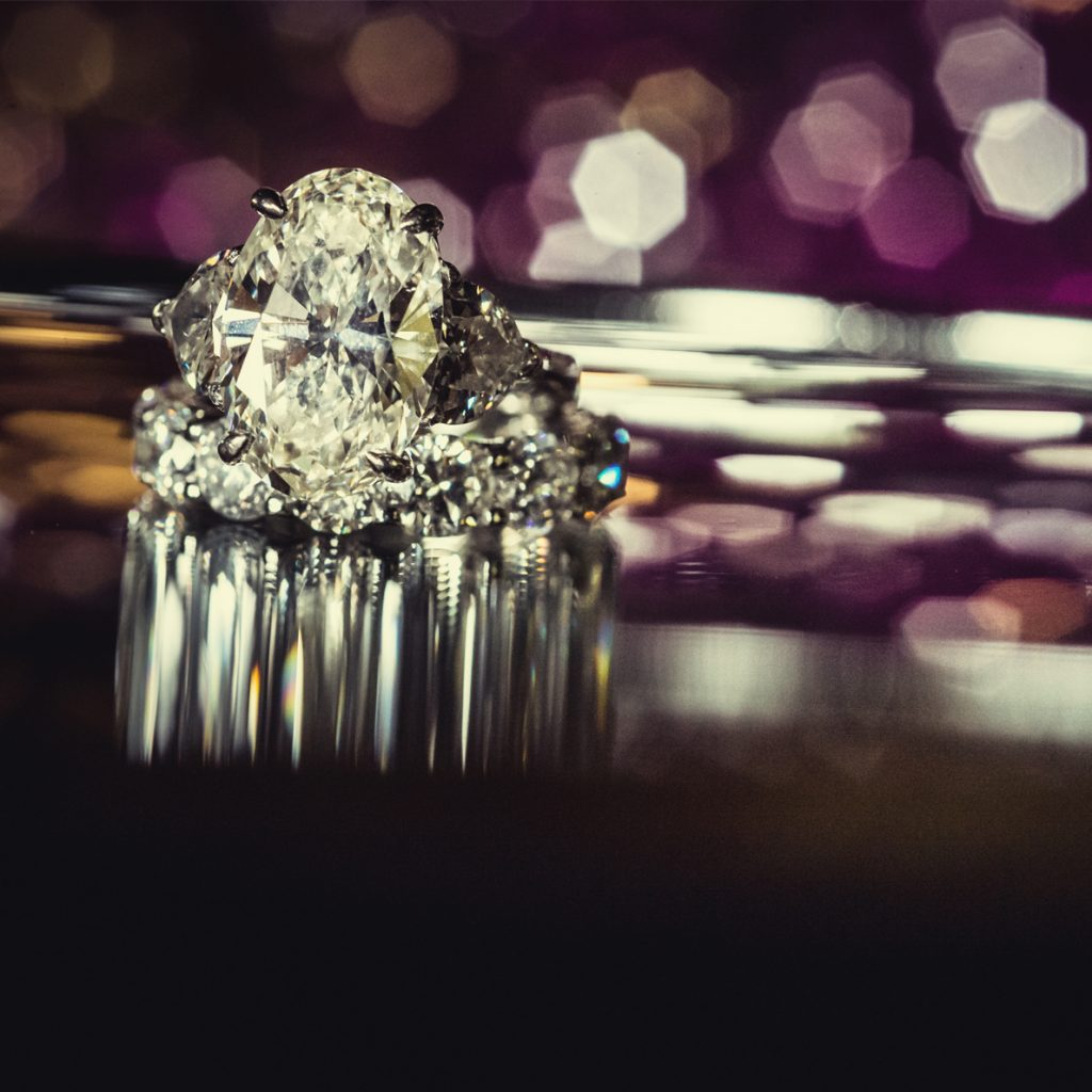 wedding ring with reflection